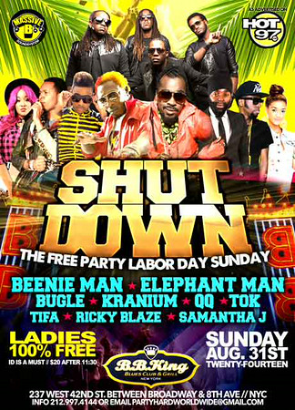 Shut Down-The Free Party Labor Day Sunday (8.31.14)