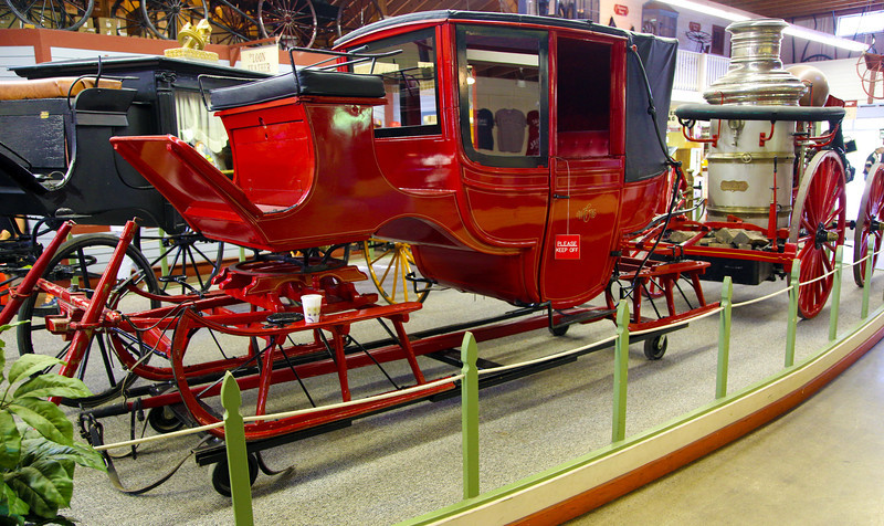 .. and a horse-drawn fire truck sleigh.