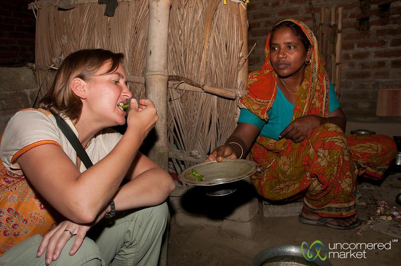 Audrey Samples Dinner for Spice Level - Hatiandha, Bangladesh
