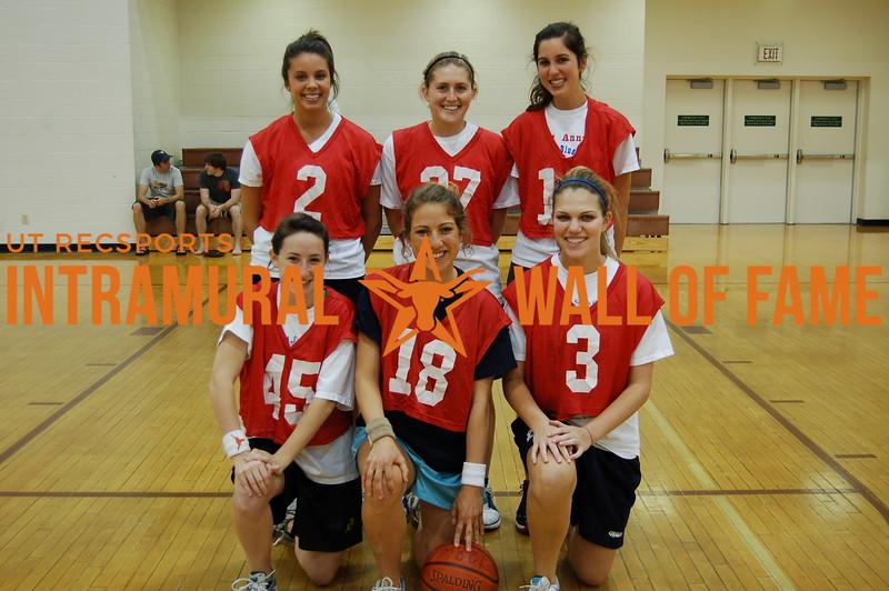 BASKETBALL Women's Runner-Up  The Stuebs  R1: Stephanie German, Andie Stuebing, Cece Cohen R2: Kristen Patchell, Lucy Lawson, Andrea Zarikian