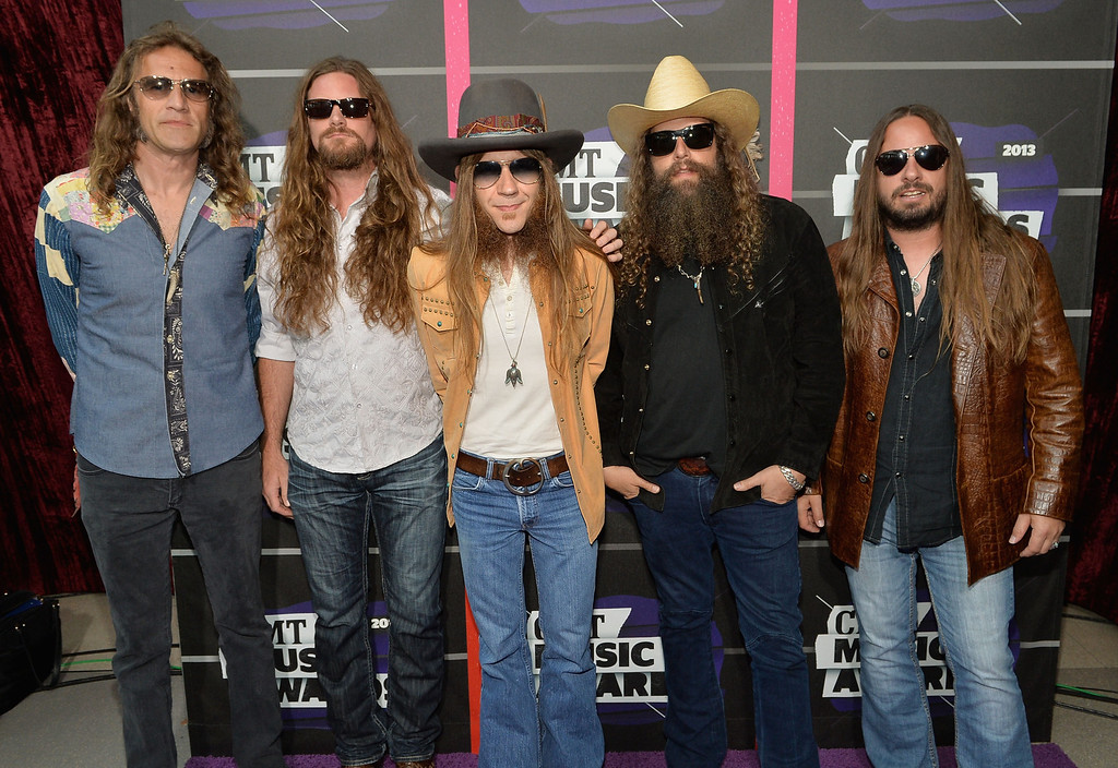 . NASHVILLE, TN - JUNE 05:  (L-R) Richard Turner, Brandon Still, Charlie Starr, Brit Turner and Paul Jackson of Blackberry Smoke attend the 2013 CMT Music awards at the Bridgestone Arena on June 5, 2013 in Nashville, Tennessee.  (Photo by Rick Diamond/Getty Images)