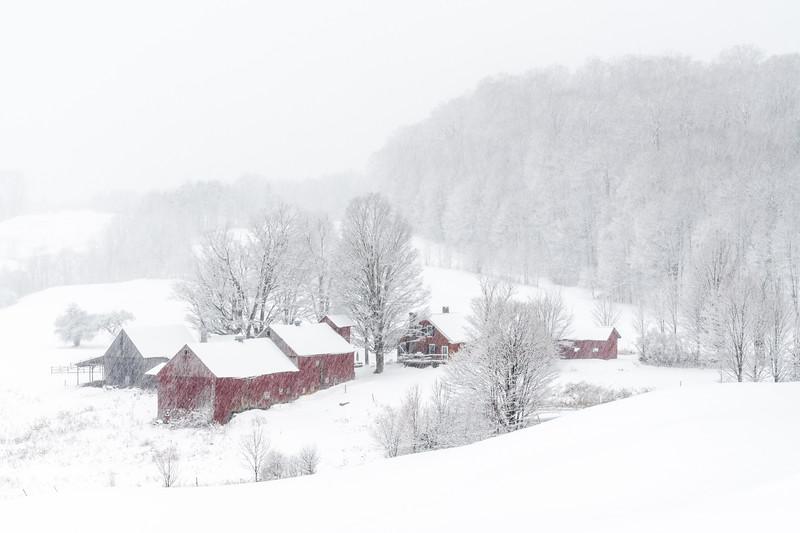 Jenne Farm in Snowstorm