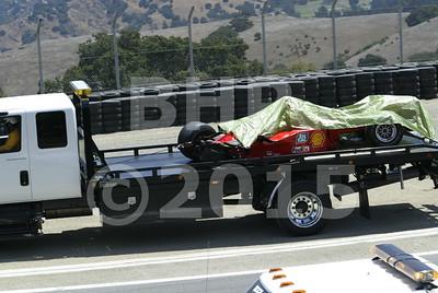 Ferrari F1 car splits in half during the Historic race meeting at Laguna Seca - race2004