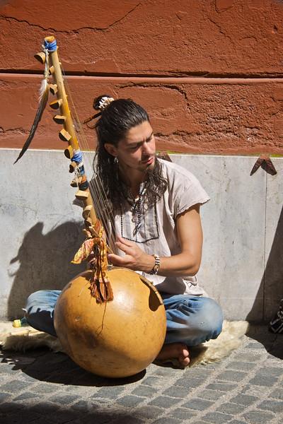 Musician on a Slovenian Street