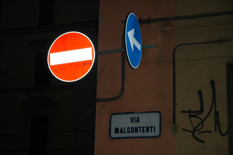 Road Signs - Bologna, Italy