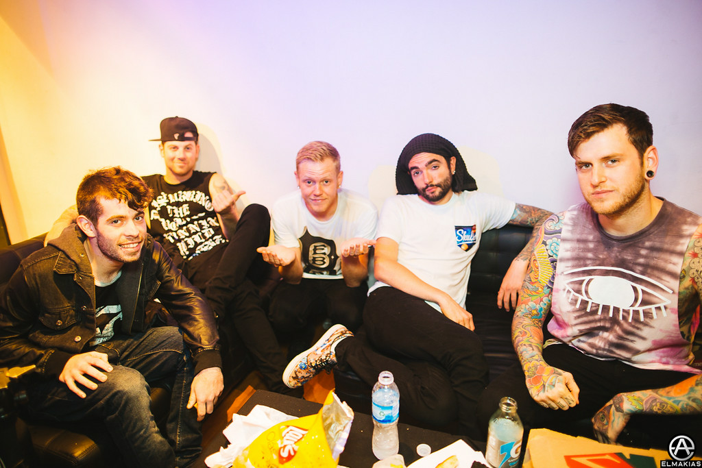 A Day To Remember after the show in Buenos Aires by Adam Elmakias