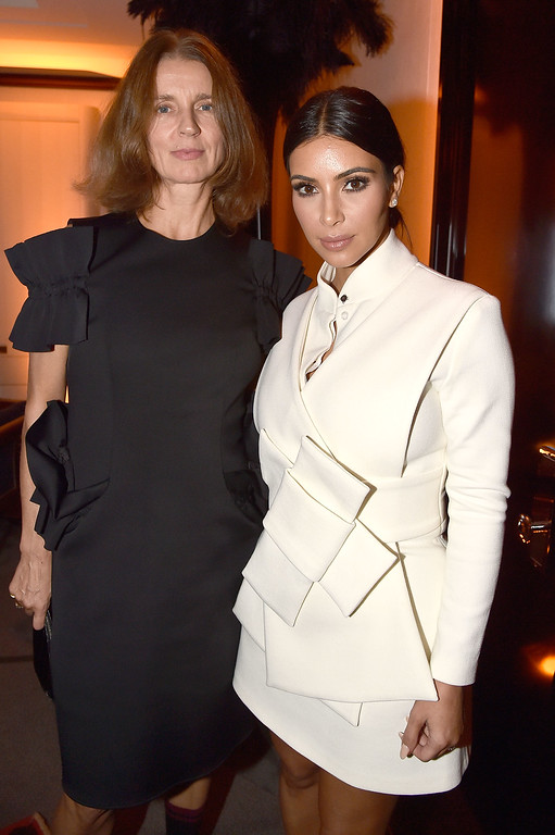 . Karla Otto and Kim Kardashian attend the Buro 24/7 Fashion Forward Initiative Presenting Natalia Alaverdian, Founder and Creative Director of A.W.A.K.E. at The Peninsula Hotel on September 24, 2014 in Paris, France.  (Photo by Pascal Le Segretain/French Select/Getty Images)