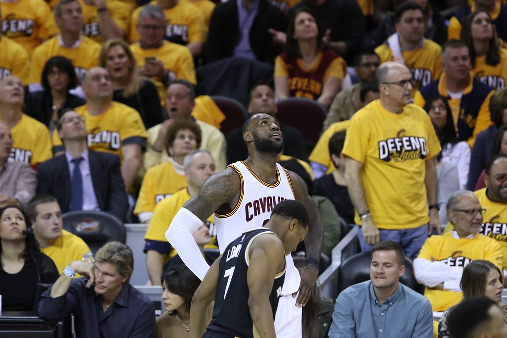. Tim Phillis - The News-Herald Action from Game 2 of the Cavaliers-Raptors Eastern Conference semifinal series on May 3 at Quicken Loans Arena.