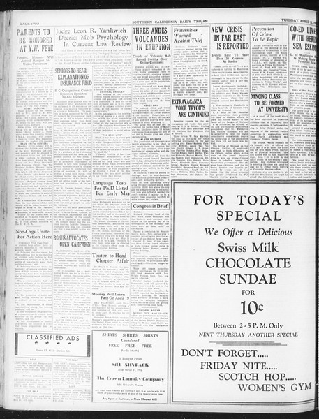 Daily Trojan, Vol. 23, No. 123, April 12, 1932