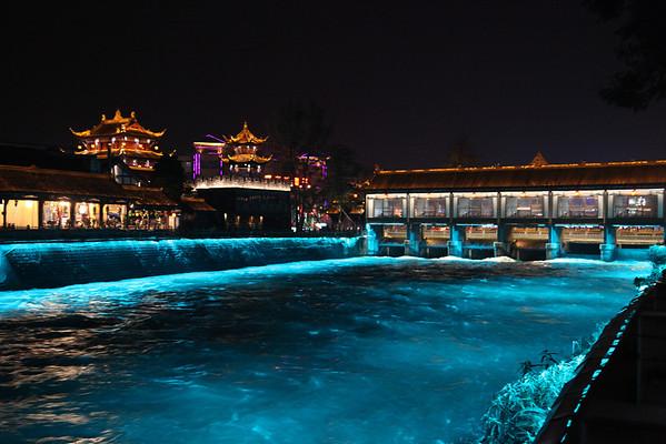 Nighttime in Chengdu & Dujiangyan