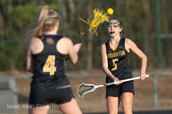 Broughton Lady Caps lacrosse at Middle Creek. February 26, 2019. D4S_1740