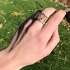.38ctw Antique Diamond and Ruby Buckle Ring 6