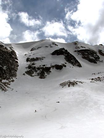 RMNP Ptarmigan Glacier Skiing 4/12/2012