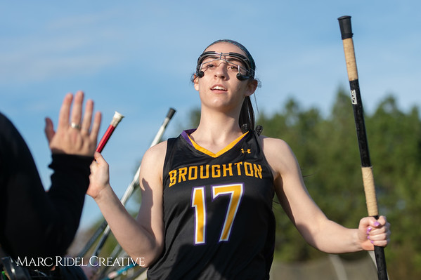 Broughton Lady Caps lacrosse at Middle Creek. February 26, 2019. D4S_1585