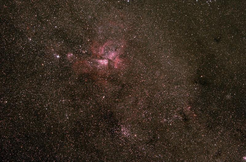 Eta Carinae and surrounds - 26/01/2020 (Processed Stack