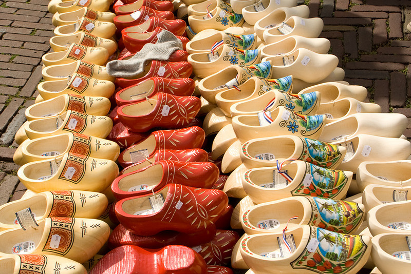 The array of wooden shoes (no, we didn't get any!)