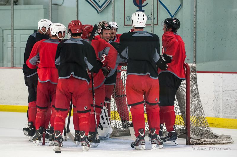 August 22, 2013. Carolina Hurricanes preseason skate at Raleigh Center Ice, Raleigh, NC.  Copyright © 2013 Jamie Kellner. All rights reserved.