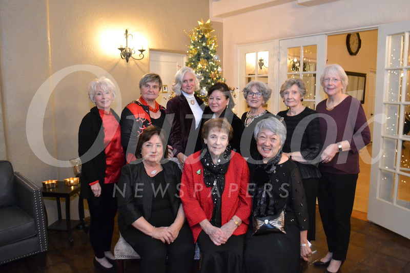 Esther Sneed (seated, from left), Ann Neilson and Irene Christensen. Back: Dona Crawford, Eva Macho, Nancy Asher, Jeanette Viau, Nancy Gunther, Elsa Lord and Sue Sheedy.