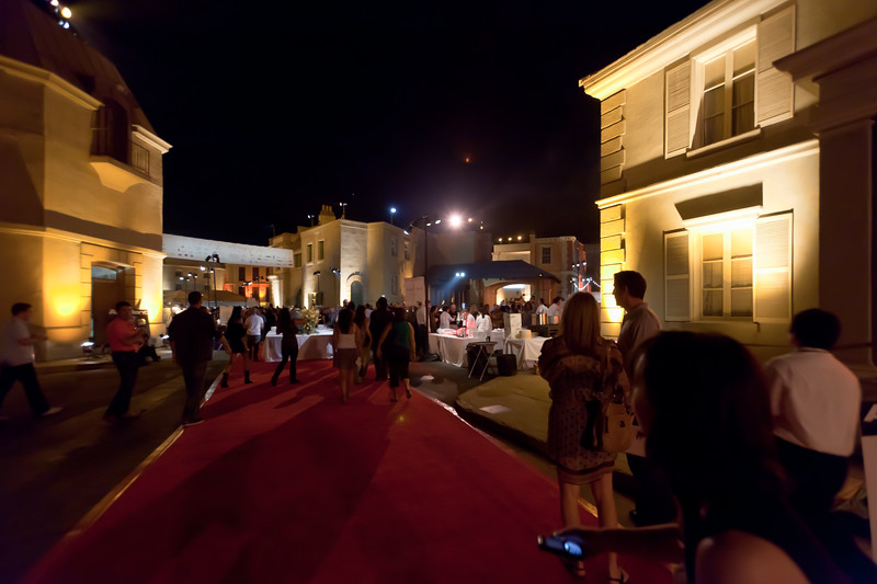 A perfect evening for such an event...70+ degrees.  And they have rolled out the red carpet for us!