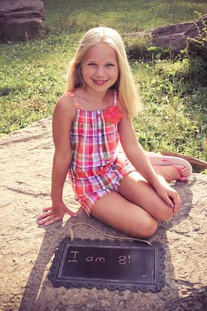 Olivia is 8:)