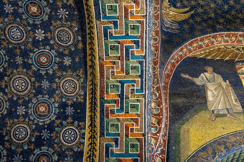 Mosaics inside the Mausoleum of Galla Placidia in Ravenna