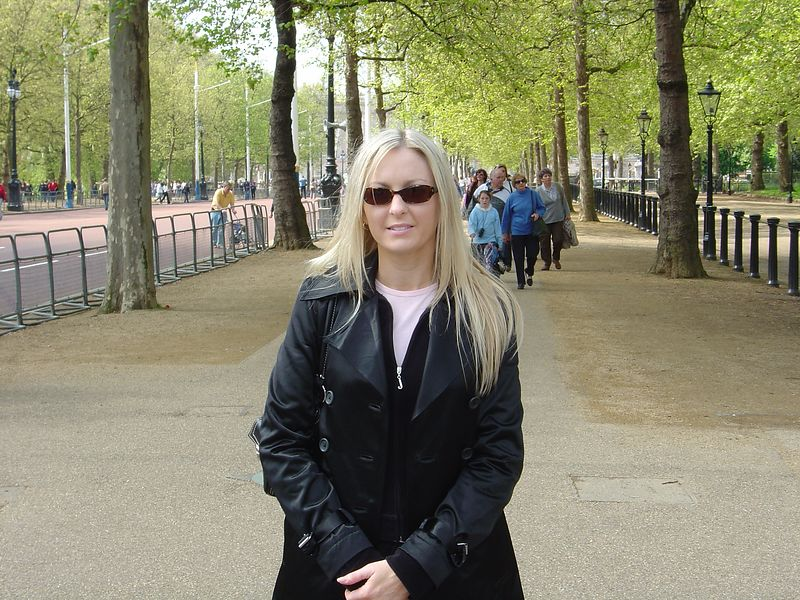 Me on the mall right in front of the memorial plaque for Diana which is on the actual sidewalk.