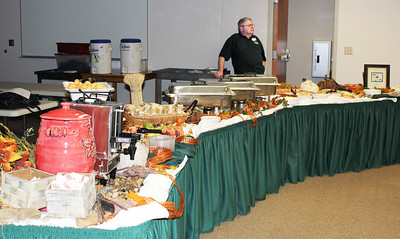 """That's Dave with great """"presentation"""" for the food."""