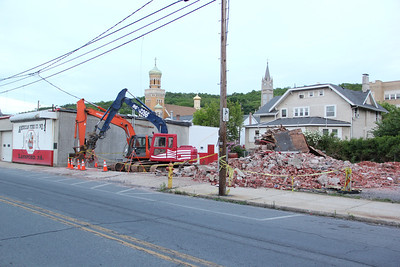 Demolition Continues, Lansford Fire Company, Lansford (5-27-2013)