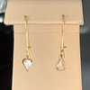 .47ctw Mismatched Pear Flat Cut Diamond Drops 0