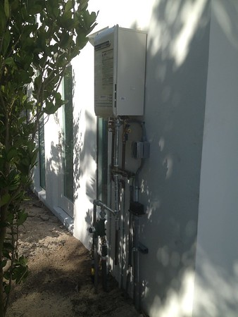 Tankless and 100 gallon tank. Key Biscayne, FL