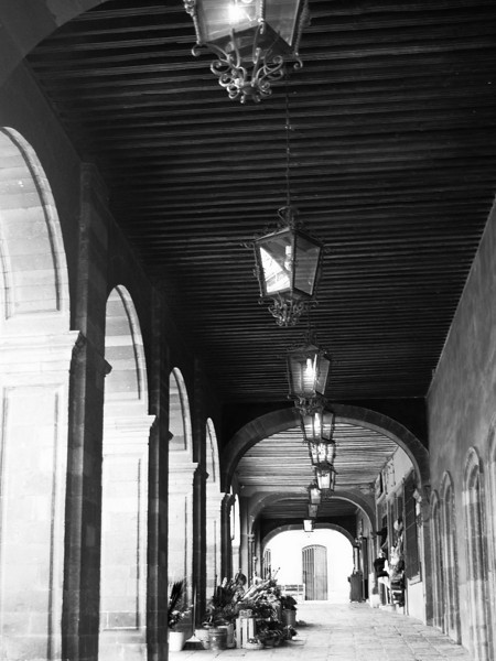 selling flowers under arches bw lr.jpg