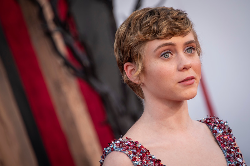 """WESTWOOD, CA - AUGUST 26: Sophia Lillis attends the Premiere Of Warner Bros. Pictures' """"It Chapter Two"""" at Regency Village Theatre on Monday, August 26, 2019 in Westwood, California. (Photo by Tom Sorensen/Moovieboy Pictures)"""
