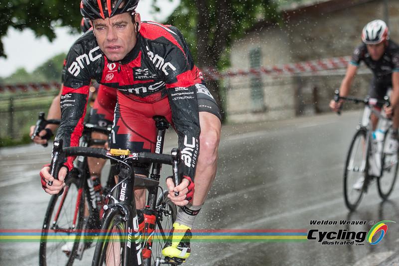 2013 Giro Stage 9  Cadel Evans.  Vallombrosa is a Benedictine abbey in the comune of Reggello (Tuscany). Photo by Weldon Weaver.