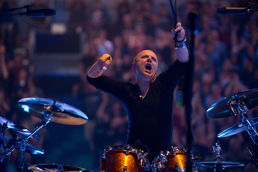 """Description of . Lars Ulrich plays drums in """"Metallica: Through the Never."""""""