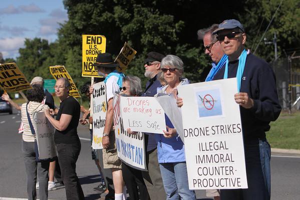 Drone protest CIA Headquarters