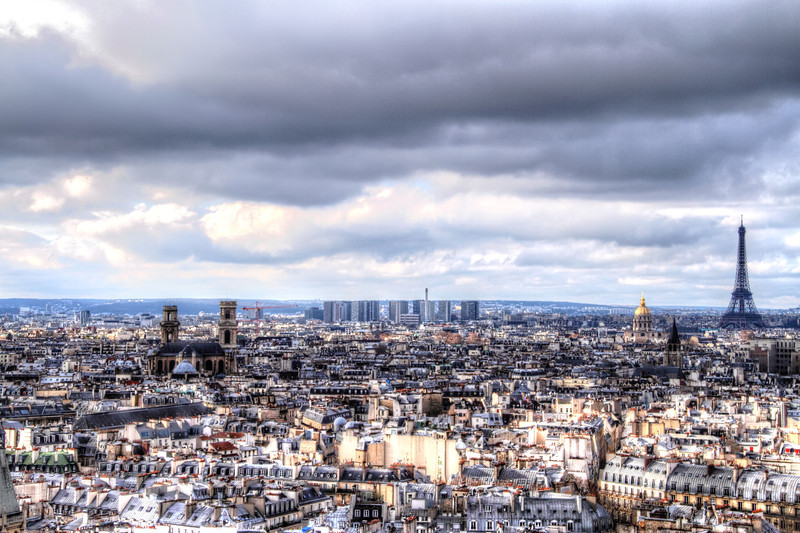 Paris from the Bell Towers of Notre Dame