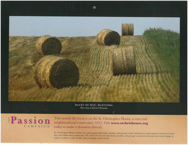 2009 Passion Campaign Calendar August 2009 Bales of Hay, Manitoba page.jpg