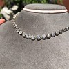 9.20ctw Victorian Riviere Diamond Necklace 3