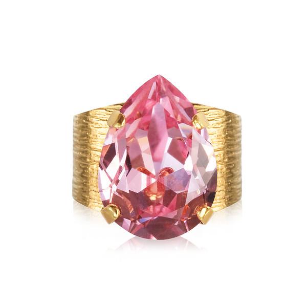 Classic Drop Ring / Light Rose