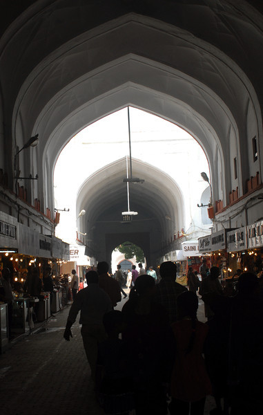 Inside the bazaar at the Red Fort in Delhi.