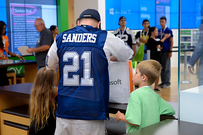 Deion Sanders & Windows 10 Visits Microsoft Store at North Park Center in Dallas Texas