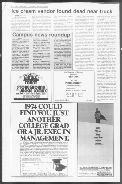 Daily Trojan, Vol. 64, No. 95, March 23, 1972