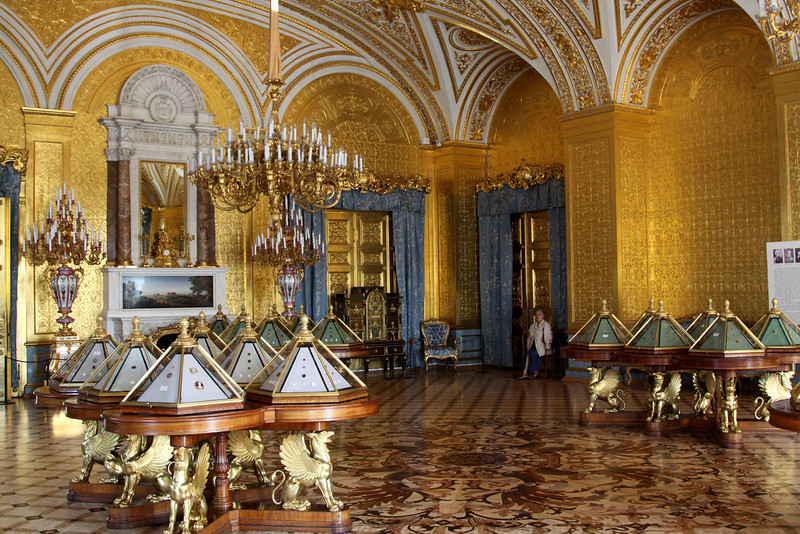 Hermitage Interior - The Gold Drawing Room.