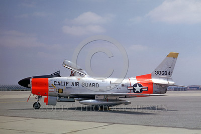 Air National Guard North American F-86 Sabre Jet Fighter Day-Glow Color Scheme Military Airplane Pictures
