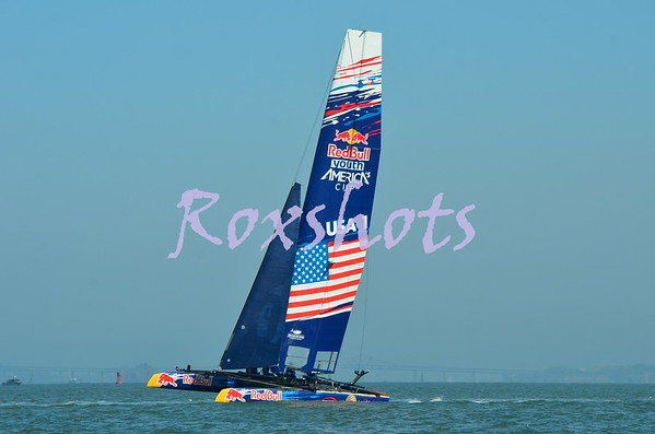 AC LV Finals day 2, Luna Rossa & ETNZ & Red Bull Teams before the race Sun. 8/18/13