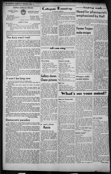 Southern California Trojan, Vol. 35, No. 27, September 03, 1943