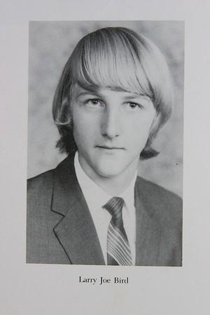 Larry Bird Spring Valley 1974 Senior High School Yearbook