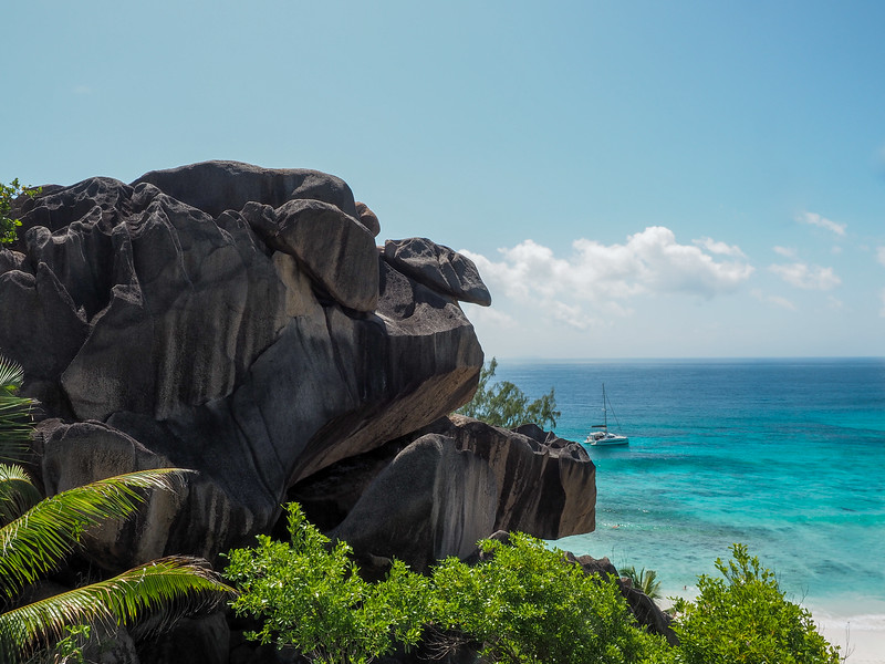 Above Grand Anse on La Digue