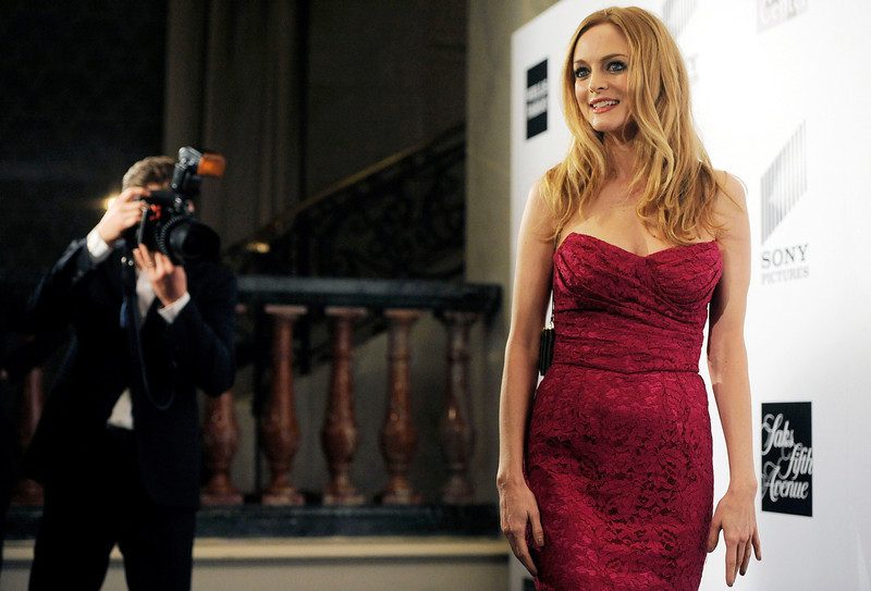 """. Actress Heather Graham arrives at the L.A. Gay and Lesbian Center\'s \""""An Evening\"""" at the Beverly Wilshire on Thursday, March 21, 2013 in Beverly Hills, Calif. (Photo by Chris Pizzello/Invision/AP)"""