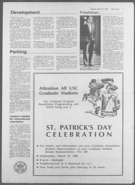 Daily Trojan, Vol. 106, No. 43, March 14, 1988
